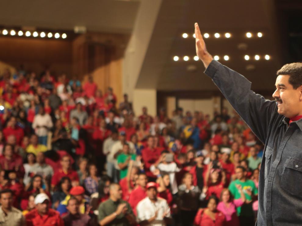 Nicolás Maduro durante un acto de gobierno en Caracas.