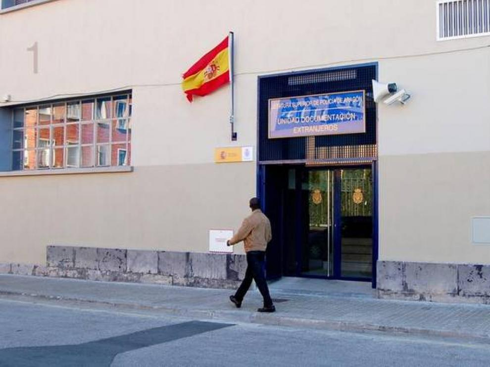 Oficina de Extranjería de Zaragoza.