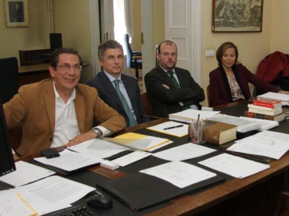 Los miembros del Tribunal Administrativo del Deporte en una de sus reuniones en Madrid.