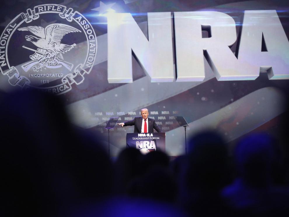 Trump en un acto de la Asociación Nacional del Rifle (NRA)