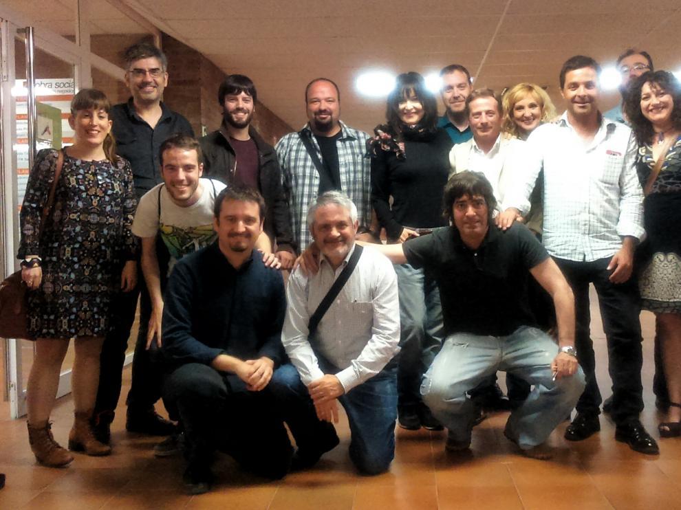 Imagen de la asamblea general de la Academia del Cine Aragonés celebrada este viernes.