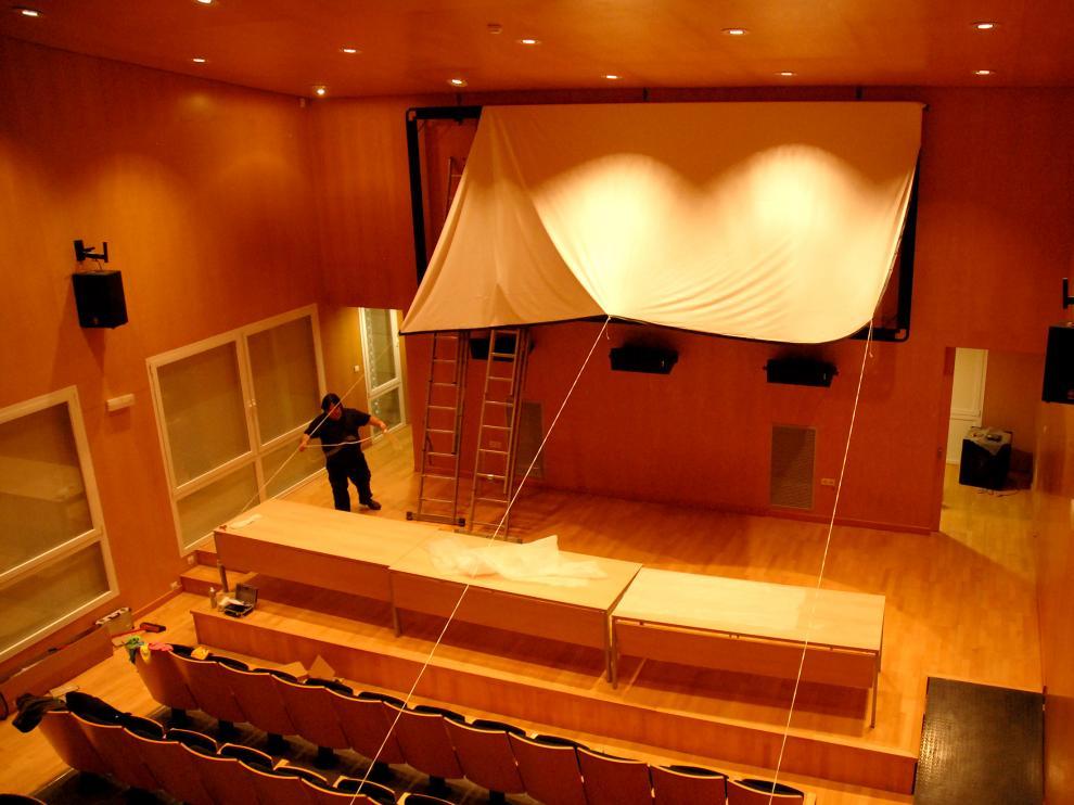 La nueva sala municipal de cine de Alcañiz ha terminado de acondicionarse en días pasados.