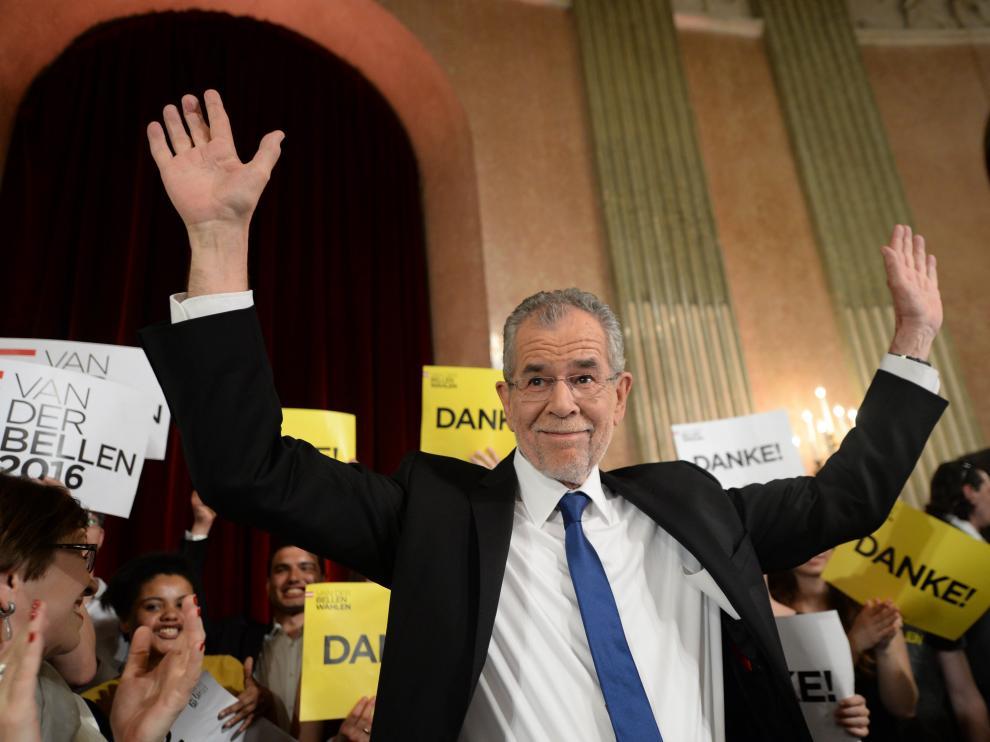 El candidato progresista Van der Bellen, vencedor de las elecciones presidenciales en Austria.