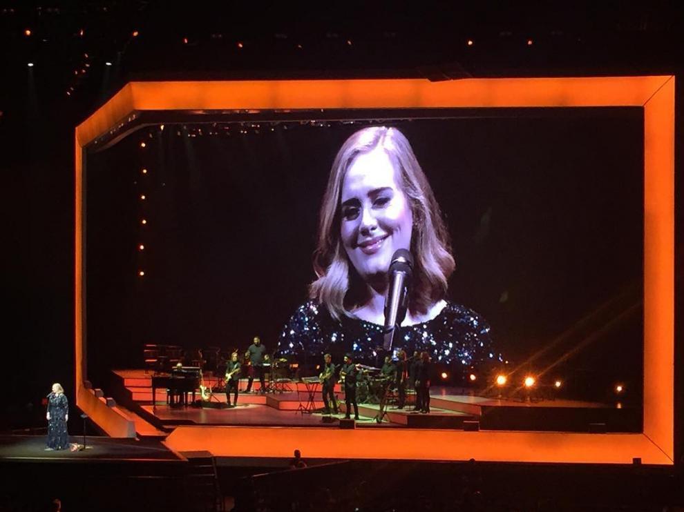 Adele en el Palau Sant Jordi de Barcelona.