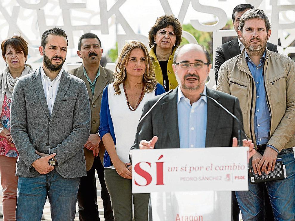 El PSOE se presentó bajo 'El alma del Ebro', en la Expo, para reafirmar su compromiso con la defensa del agua.