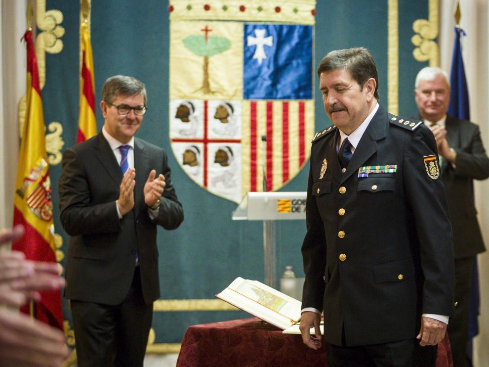 Toma de posesión del nuevo jefe de la unidad adscrita a Aragón de la Policía Nacional