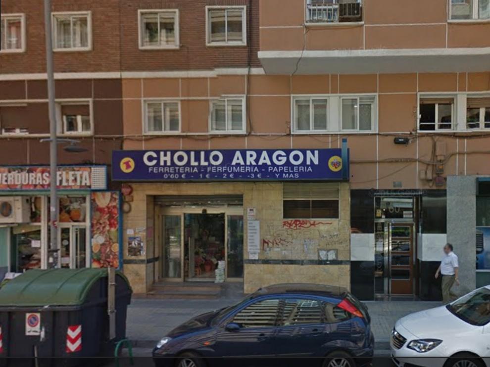 El bazar clausurado, en una imagen de Google Maps.