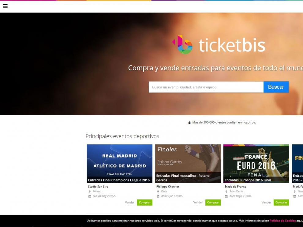 La web de venta de entradas Ticketbis