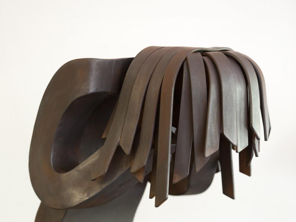 La escultura 'Víctima', de Fernando Clavo Sanz.