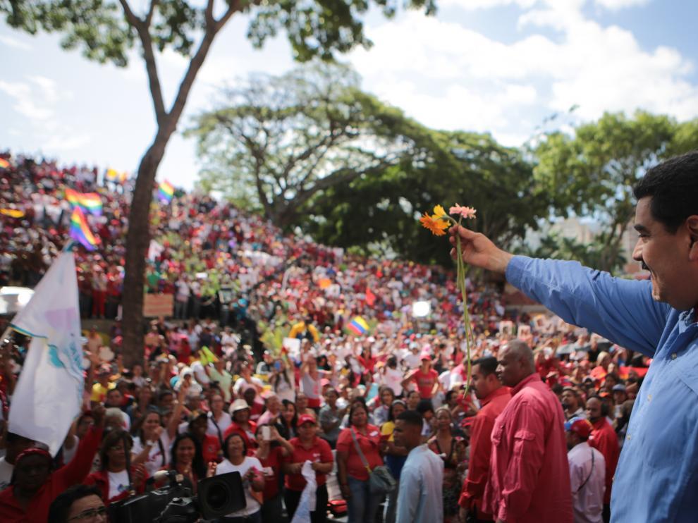 Maduro en su discurso en Venezuela
