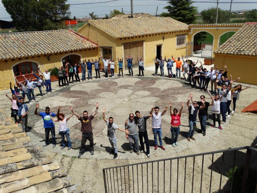 Visita de otras Escuelas E2O a la Granja Escuela Torrevirreina, este martes
