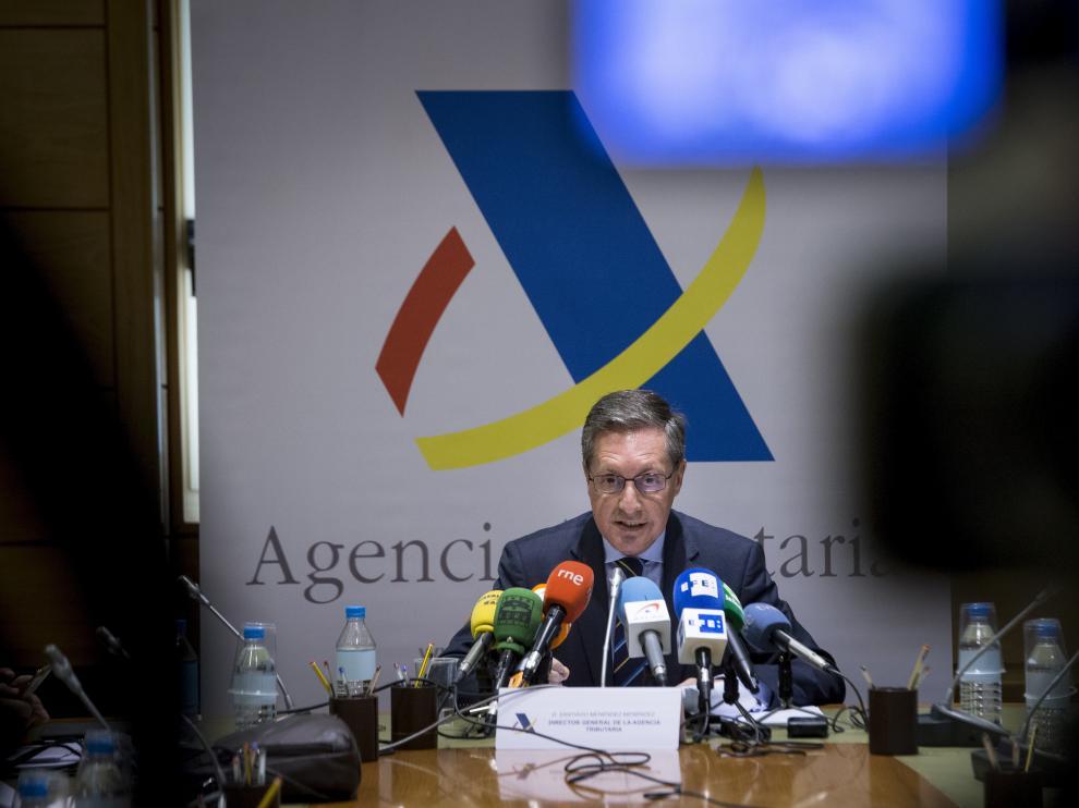 El director de la Agencia Tributaria (AEAT), Santiago Menéndez.