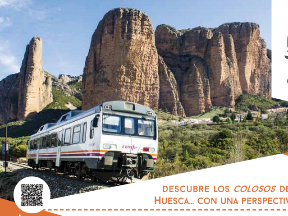 Imagen promocional del tren geológico del Prepirineo.