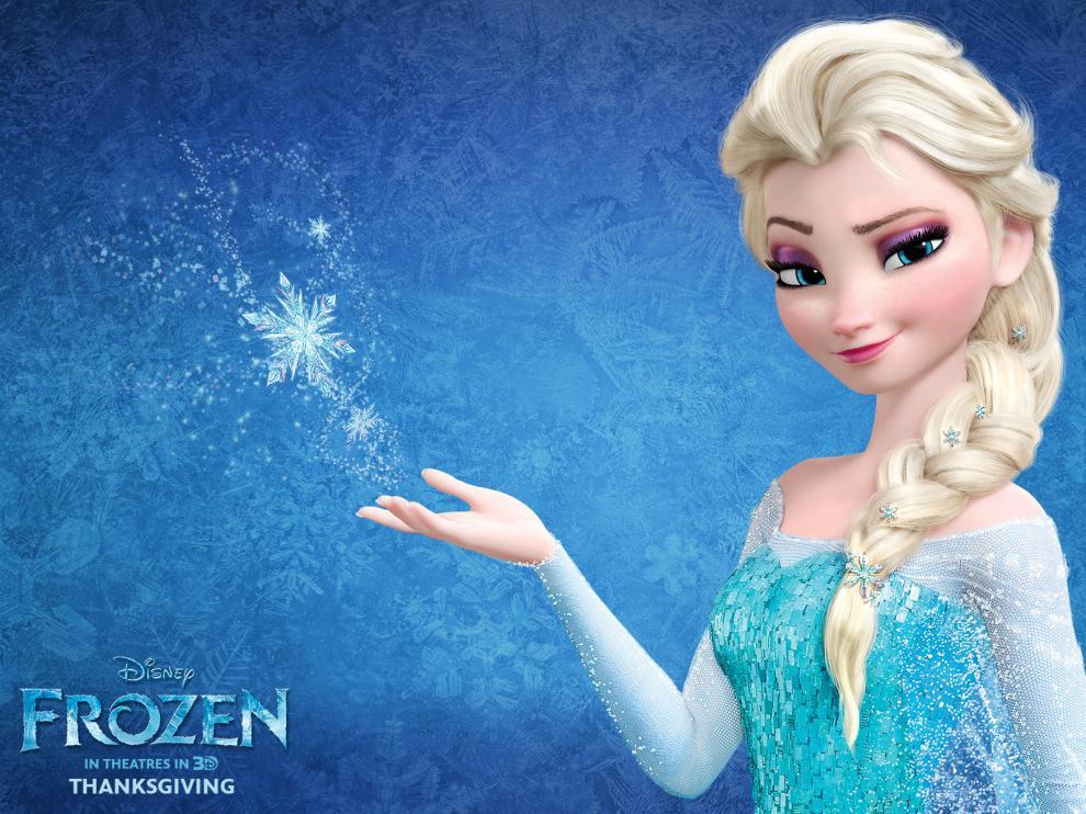 La princesa Elsa, en un cartel de la película 'Frozen'.