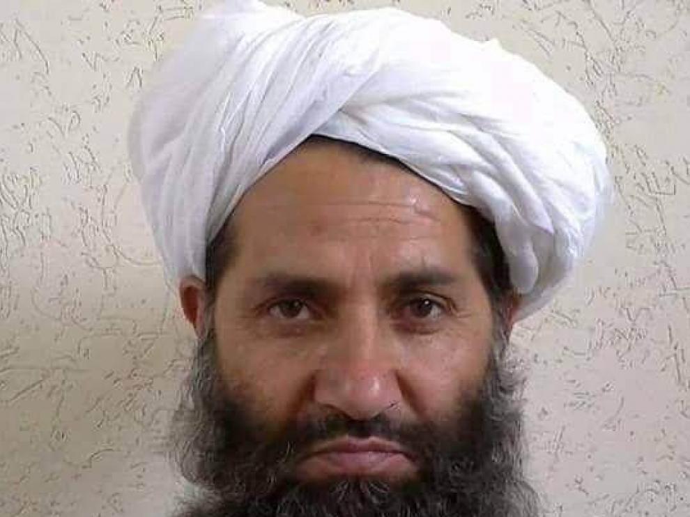 El nuevo jefe de los talibanes, el mulá Haibatullah.