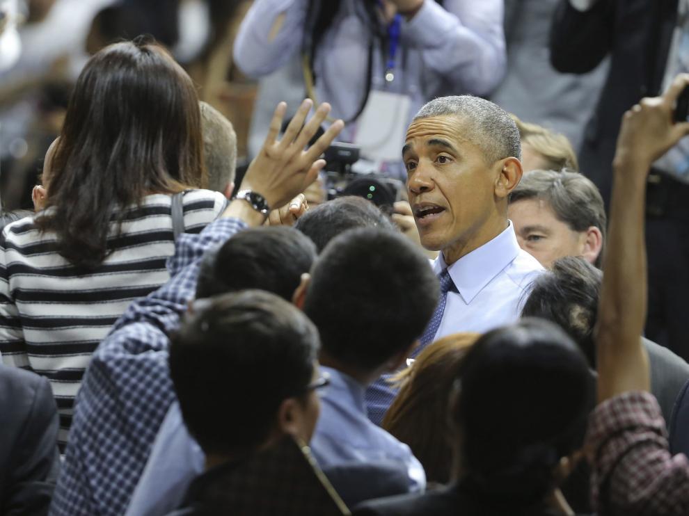Obama durante su visita a Vietnam.