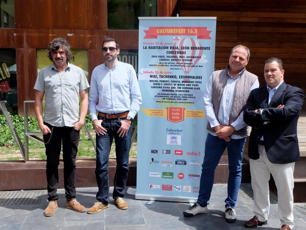 Presentación en Las Armas de Zaragoza del festival Culturefest 16.1 de Tarazona.