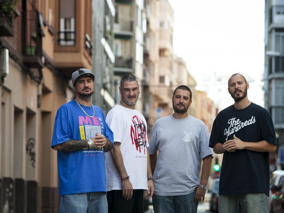 Los cuatro ex integrantes del antiguo grupo Violadores del Verso, en imagen de archivo.