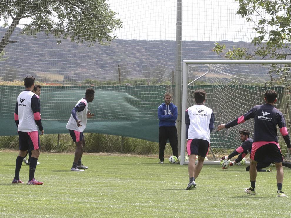 Entrenamiento del Huesca este miércoles
