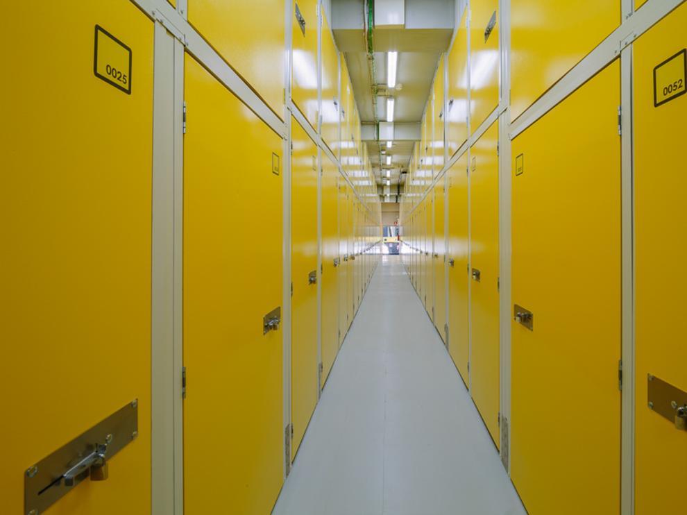 Una de las instalaciones de Guardatodo en Zaragoza, una de las empresas que ofrecen trasteros en la ciudad.