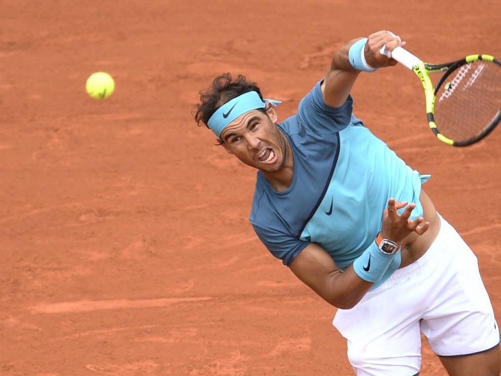 Rafa Nadal durante el partido contra Facundo Bagnis en la tercera ronda del Roland Garros.