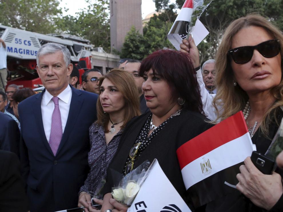 ?Decenas de personas marchan en El Cairo en homenaje a las víctimas del avión de Egyptair