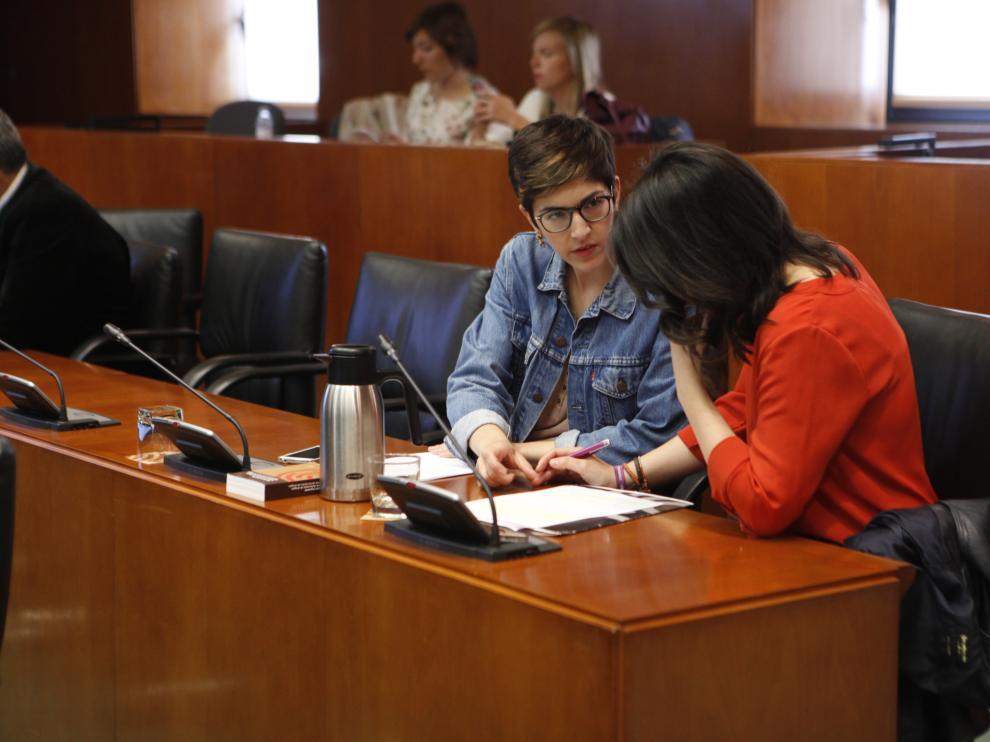 Comisión de Sanidad en las Cortes de Aragón.