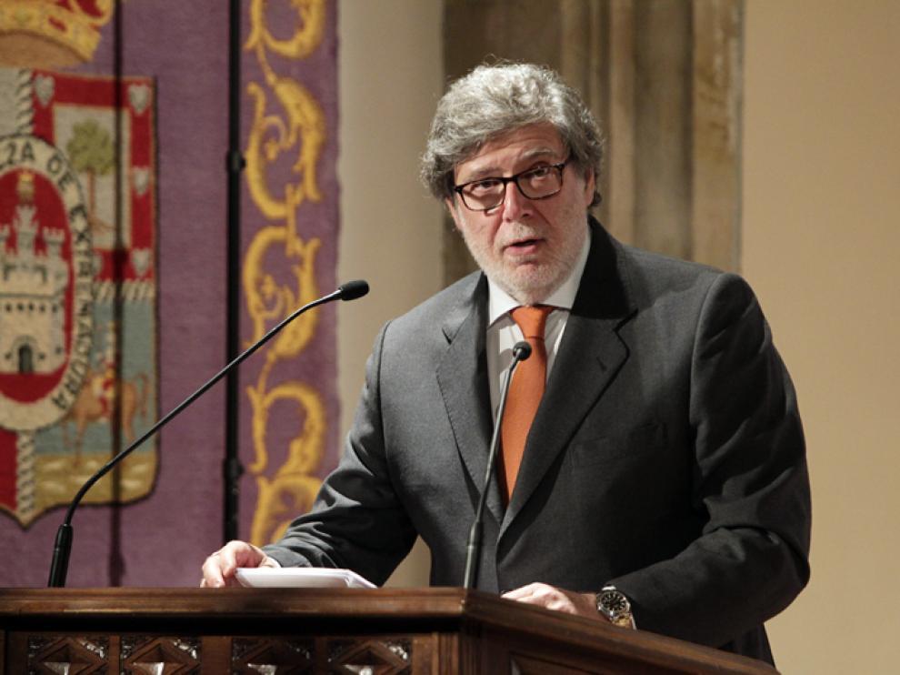 El presidente de la Federación de Organizaciones Empresariales de Soria (FOES), Santiago Aparicio.