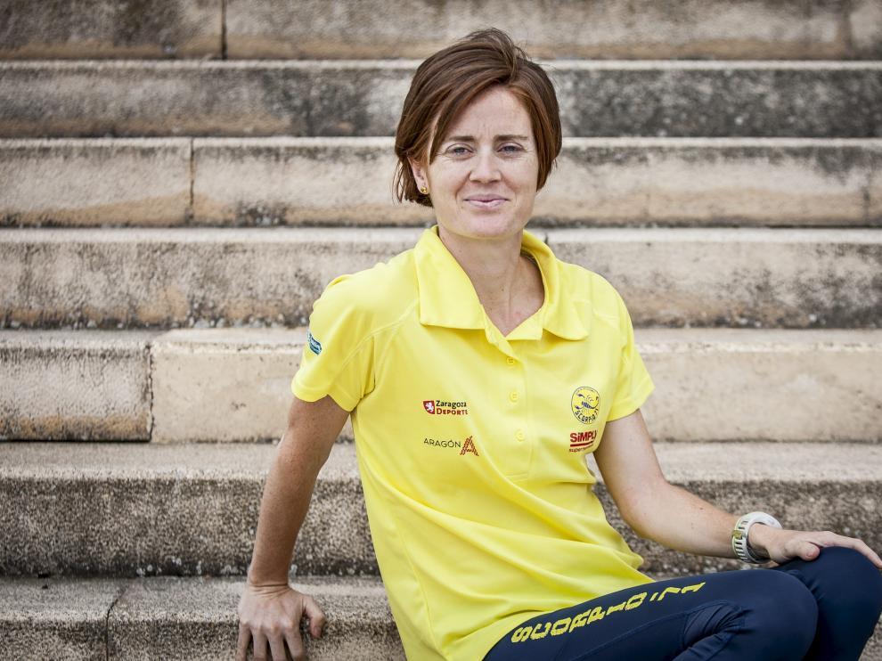 María José Poves, fotografiada esta semana en Zaragoza, antes de partir a La Coruña.