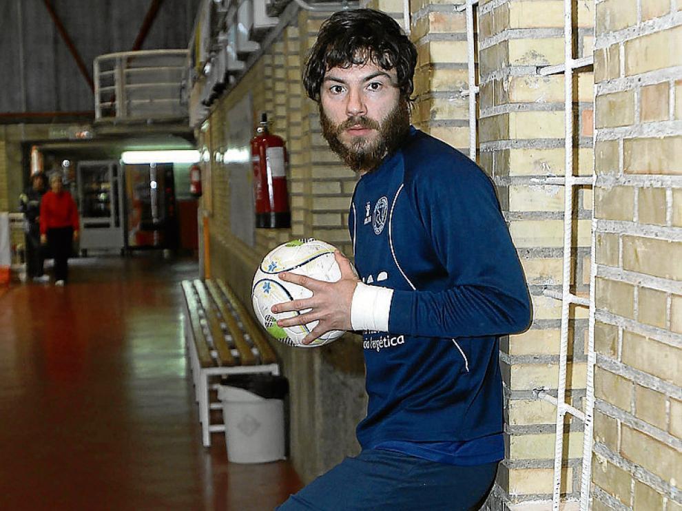 Molina, en el pabellón Ciudad de Tudela.