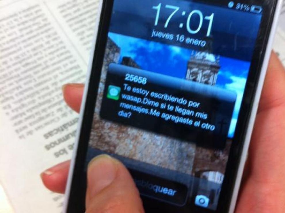 Un mensaje fraudulento al teléfono móvil denunciado por la UCA