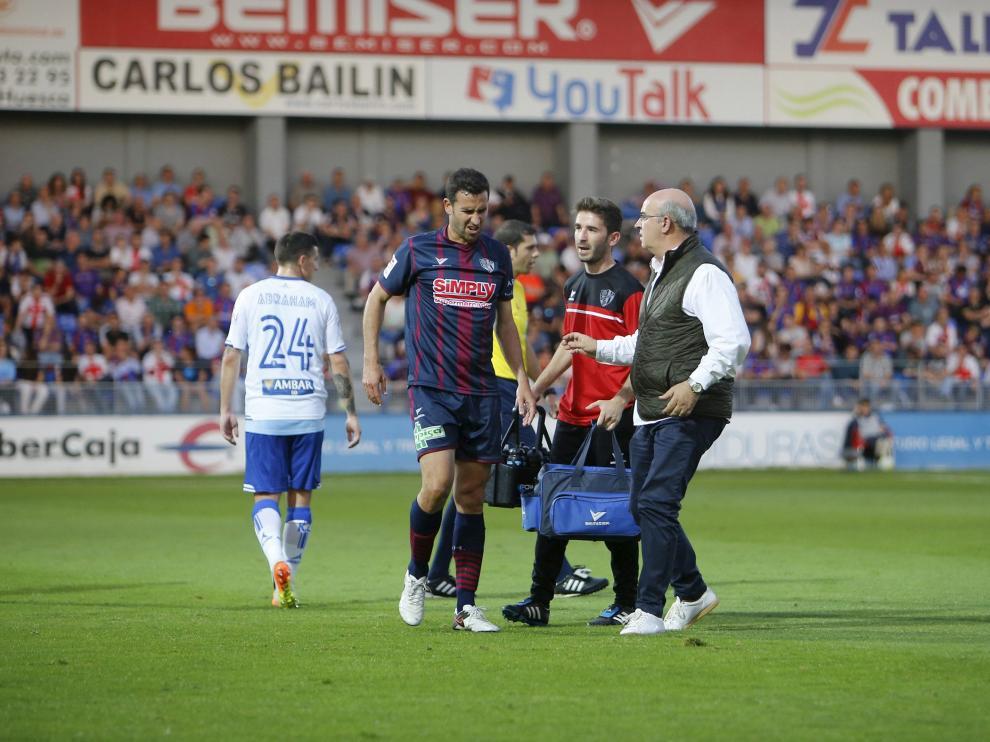 Lesión de Íñigo López contra el Real Zaragoza.