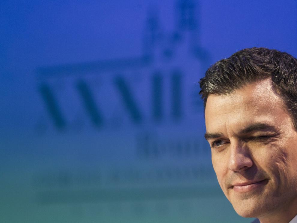 Pedro Sánchez durante su intervención en la reunión del Círculo de Economía catalán en Sitges.