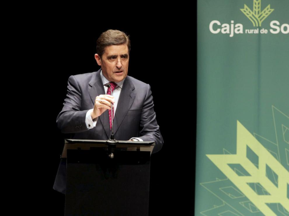 El presidente de Caja Rural de Soria, Carlos Martínez Izquierdo.