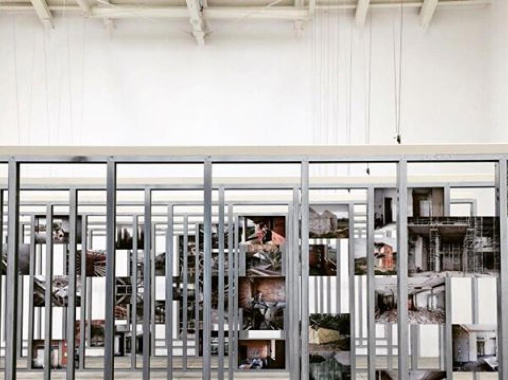 Imagen del pabellón de España en la Bienal de Arquitectura de Venecia.
