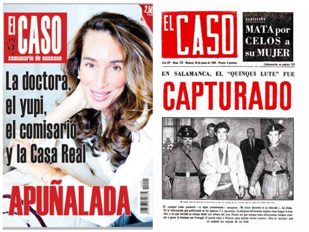 La nueva portada, a la izquierda, con una de las antiguas