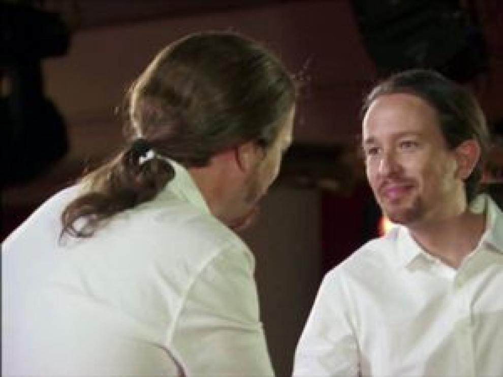 ?Pablo Iglesias, con Joaquín Reyes en el nuevo programa 'Feis tu Feis'.