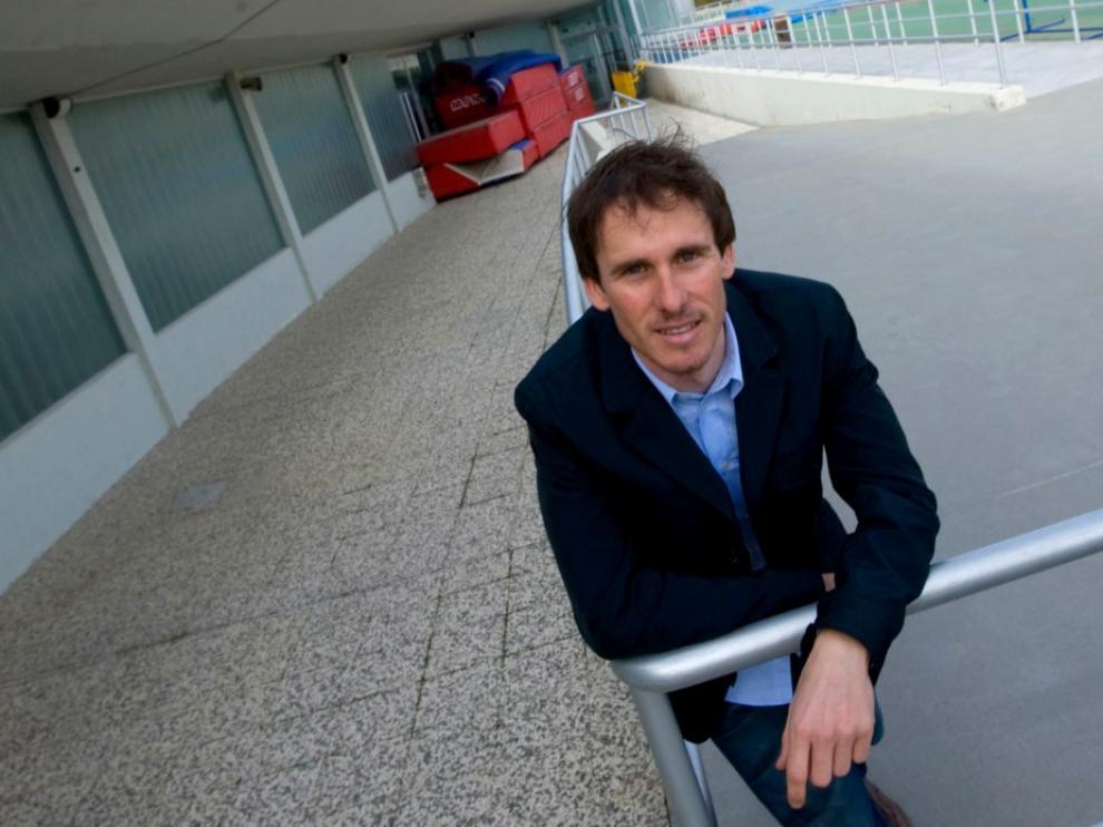 David Cañada, cuando anunció su retirada en 2010.