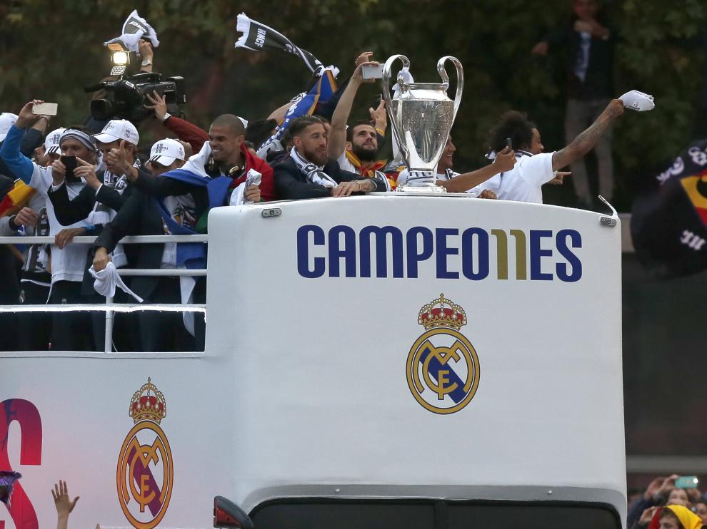 El Real Madrid tras ganar la última Champions.