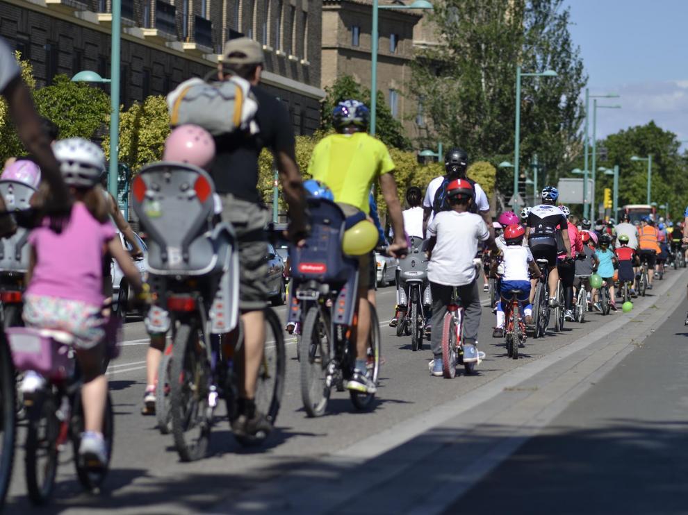 X Bicicletada Escolar en Zaragoza