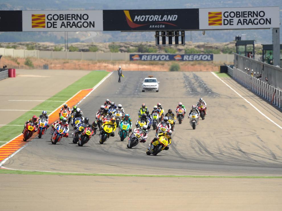 Momento de una de las sesiones clasificatorias de Moto 2 en Motorland, imagen de archivo.