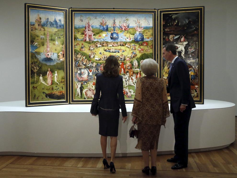 Inauguración de la gran exposición sobre El Bosco que ofrece el Museo del Prado
