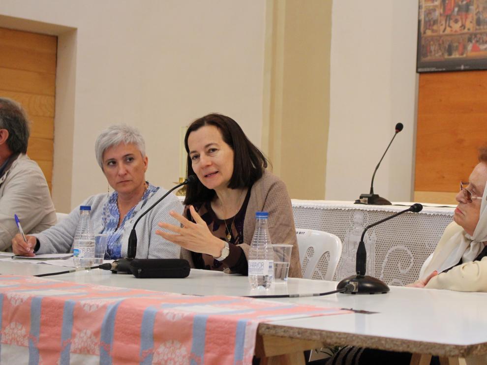La abogada colombiana Clara Rojas, durante el acto