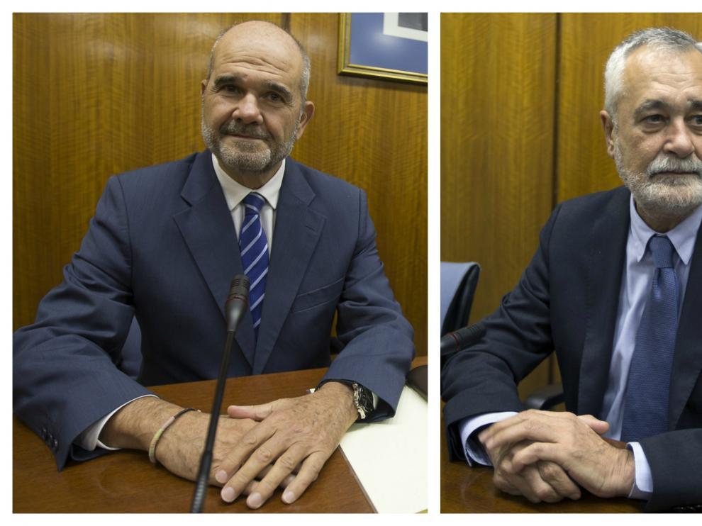 Chaves y Griñán en fotos de archivo.