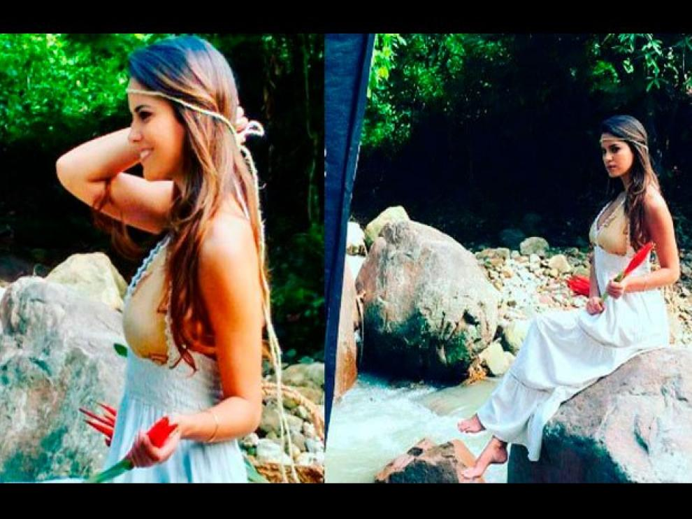Imágenes de la sesión de fotos en la que Valeria Piazza encontró una pierna humana.