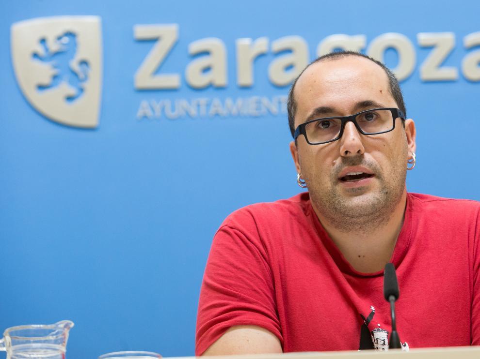 Alberto Cubero durante una rueda de prensa en el Consistorio.