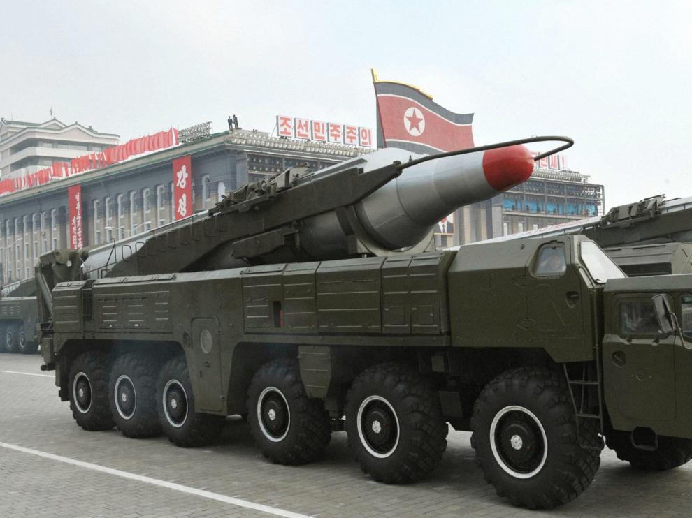 Imagen de archivo de un misil 'Musudan' en Corea del Norte.