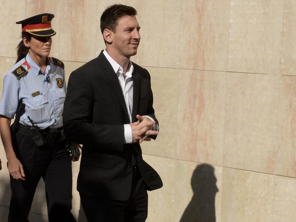 Imagen de archivo de Messi en los juzgados