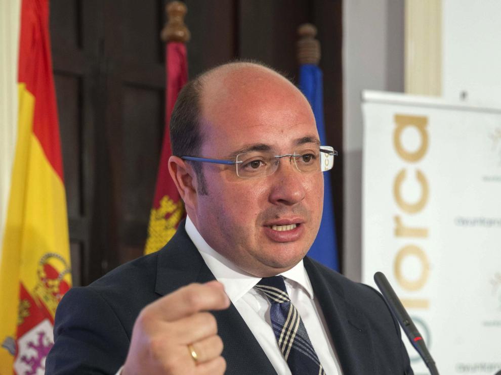 El presidente de Murcia, Pedro Antonio Sánchez, en una imagen de archivo.