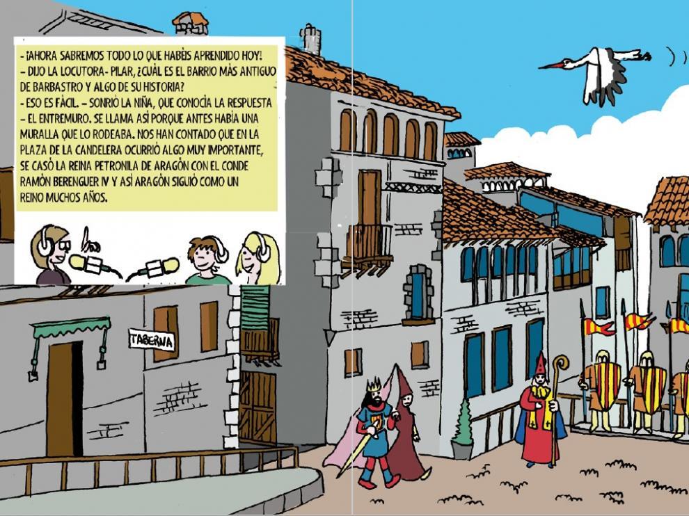 Ilustración de una de las páginas del libro de Barbastro.